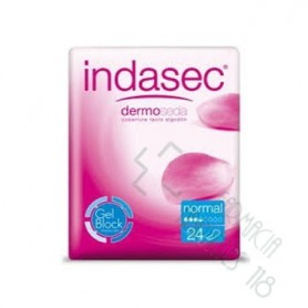 INDASEC NORMAL COMPRESA PERDIDAS LEVES BOLSA 24+12 COMPRESAS