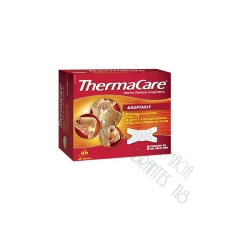 THERMACARE ADAPTABLE PARCHES TERMICOS 3 PARCHES