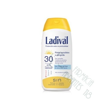 LADIVAL PIEL SENSIBLE O ALERGICA FPS 30 ALTA FOTOPROTECCION FACIAL GEL CREMA 75 ML