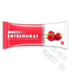 OBEGRASS ENTREHORAS BARRITA CHOCOLATE BLANCO Y FRUTOS ROJOS 30 G