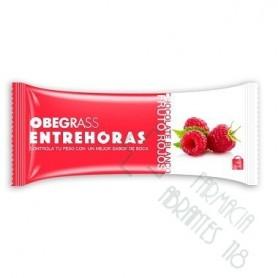 OBEGRASS ENTREHORAS BARRITA CHOCOLATE BLANCO Y FRUTOS ROJOS 30 G