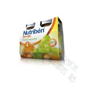 NUTRIBEN ZUMO FRUTAS VARIADAS 130 ML 2 U BIPACK