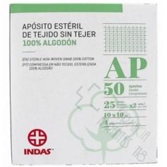 INDAS APOSITO ESTERIL TEJIDO SIN TEJER 10 X 10 CM 25 U