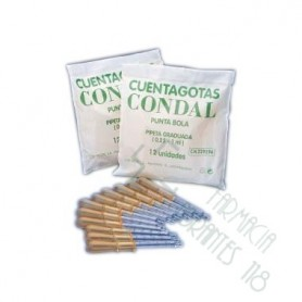 CUENTAGOTAS CONDAL CRISTAL P BOLA 12 U