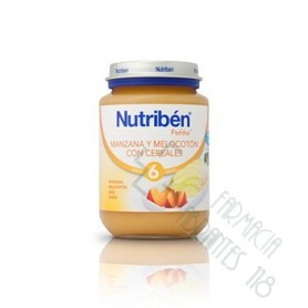 NUTRIBEN MANZANA MELOCOTON CON CEREALES POTITO JUNIOR 200 G