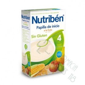 NUTRIBEN INICIO A LA FRUTA PAPILLA SIN GLUTEN 300 G